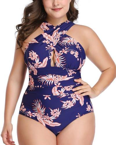 Cross-covering Belly One-piece Swimsuit
