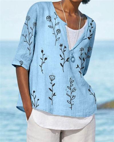 Bohemian Beach Summer Women Holiday Daily Blouse