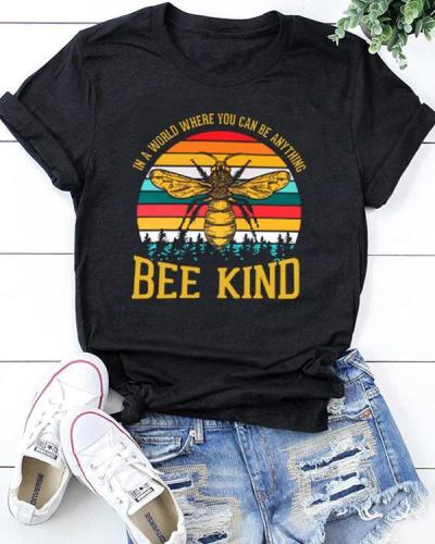Bee Kind Women Casual TShirt Tops