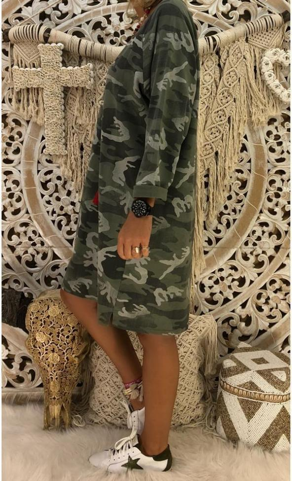 Cotton Long Sleeve Casual Printed Dresses