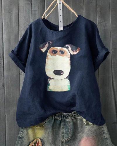 Casual Printed/dyed Short Sleeve Shirts & Tops