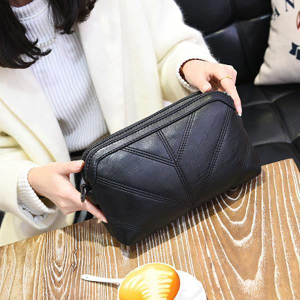 Embroidered Line Handbag Female Satchel Casual Crossbody Bag