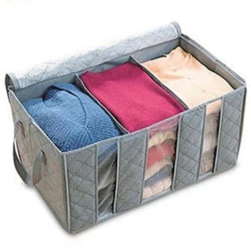 Large Capacity Clothes Storage Bag Bamboo Charcoal Fiber