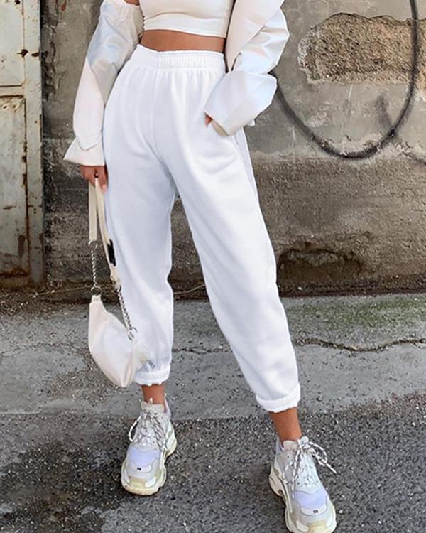 Casual pocket street pants