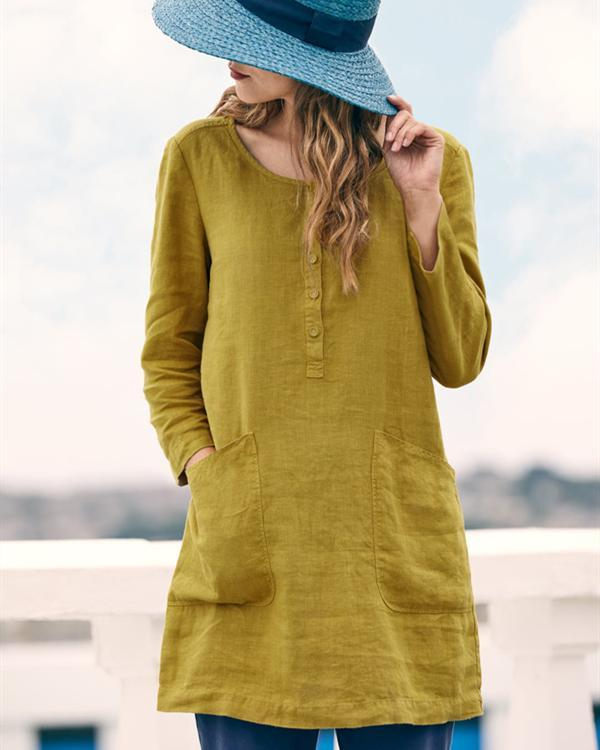 Long Sleeve Casual Crew Neck Summer Women Daily Tops