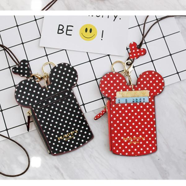 Cute Animal Shape Neck Bag Wave Dot Card Holder Coin Purse
