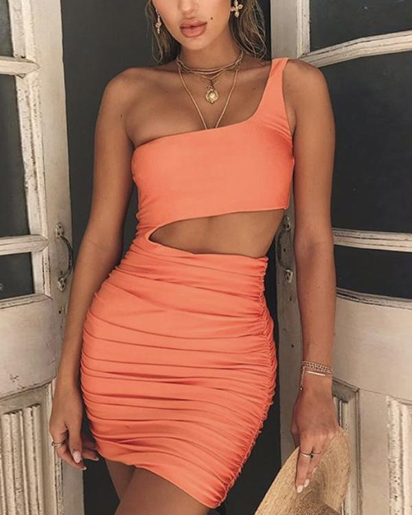Women's Sexy Solid Color Bodycon Dress