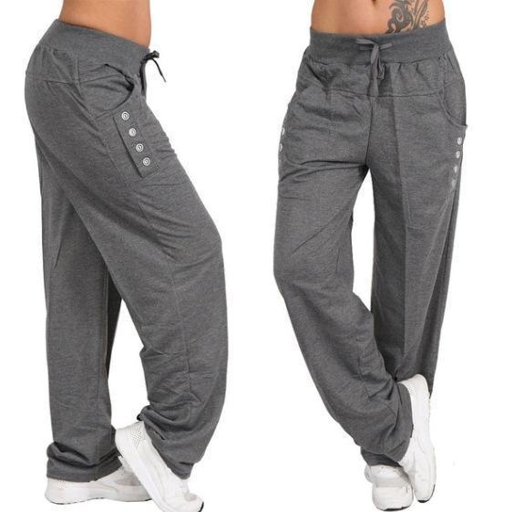 Casual High Waist Oversized Loose Leggings Sports Pants