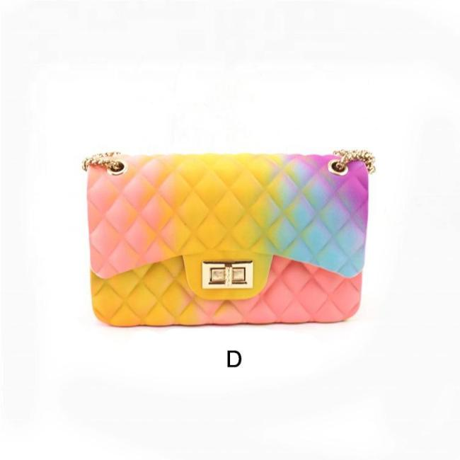 Women Rainbow Color Shoulder Bag Handbag