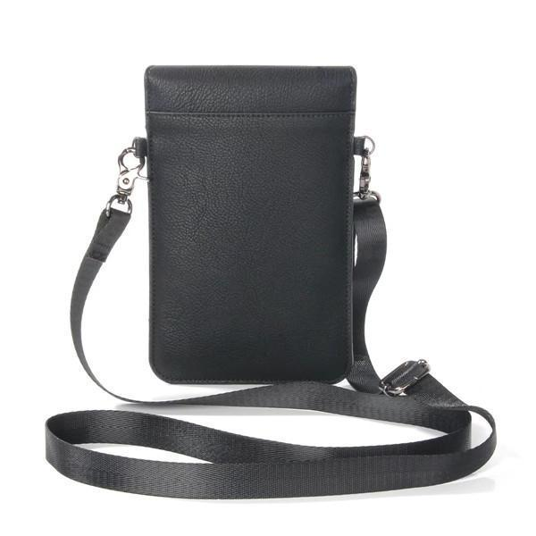 Retro Genuine Leather Card Holder 6 Inch Phone Purse Crossbody Bag