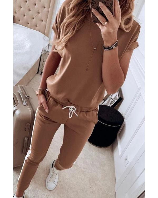 Women Casual Striped Two Piece Set
