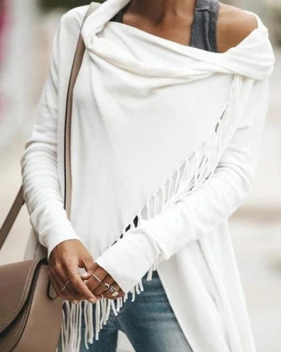 Casual Long Sleeve Asymmetrical Ruched T-Shirt