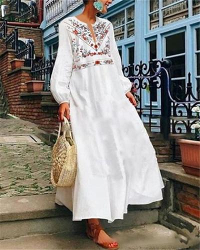 Bohemian Long Sleeve Fashion Summer Holiday Dresses