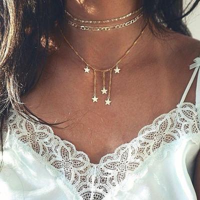 Jewelry-Pentagram Unique Necklace Sets