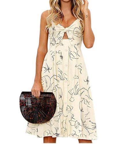 Fleur Line Button Dress