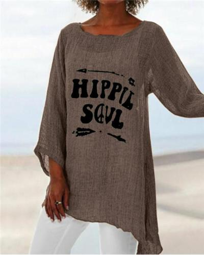Crew Neck New Casual Lady Daily Shift Tops