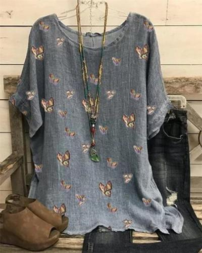 Floral Print Casual Blouse For Women
