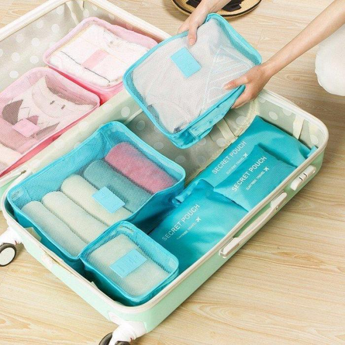 6 PCS Oxford Travel Waterproof Storage Bag Large Capacity Folding Bag Oxford Container