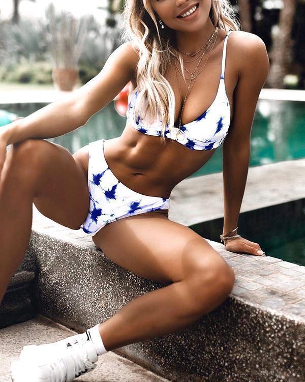 Blue Crush Tie-dye Bikini Set