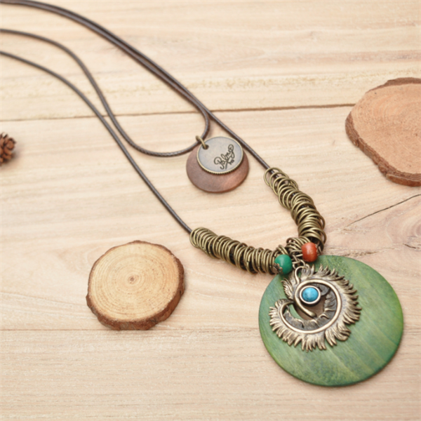 Casual Round Alloy Vintage Necklace