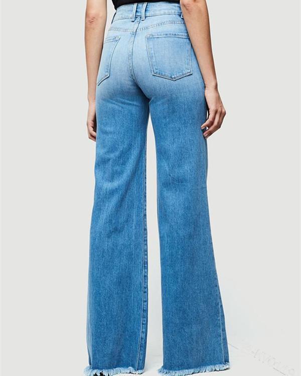 High Waist Denim Jeans Pants