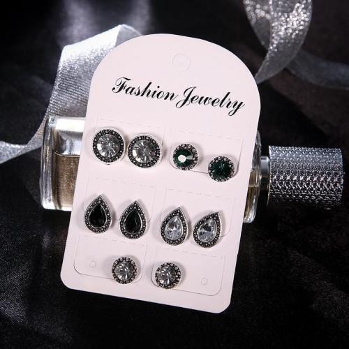Jewelry-Retro Black Gemstone Earrings