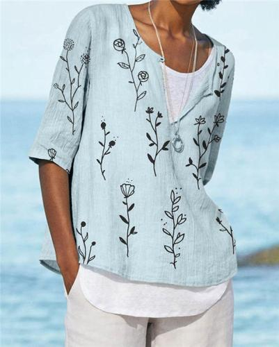 Bohemian Beach Summer Women Holiday Daily Blouse