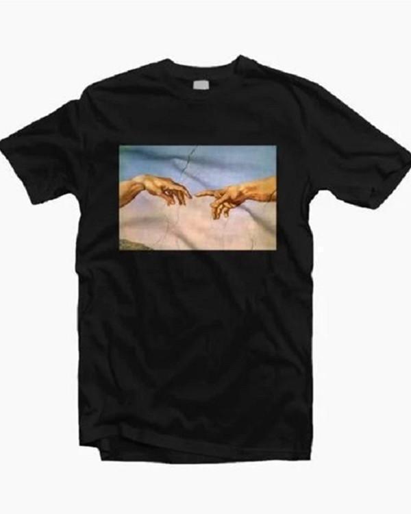 Fashion Printed Short Sleeve T-Shirt