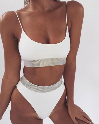 Sexy Sequined High Cut Bikini Set