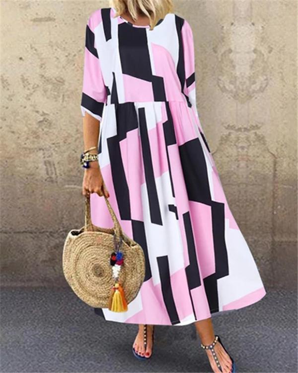 Printed Summer Holiday Daily Fashion Maxi Dresses