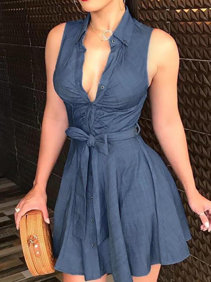 Sexy Cutout Ruffles Ruched Dress