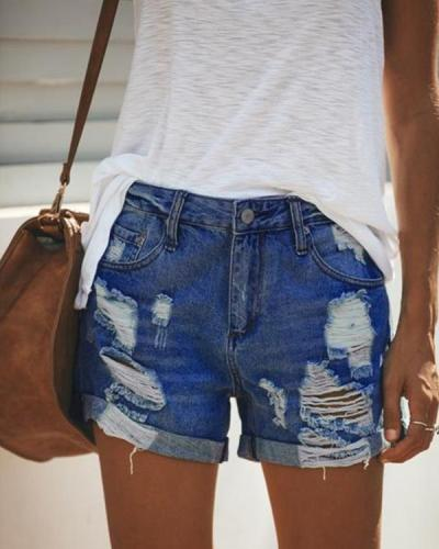 Women Casual Short Jeans