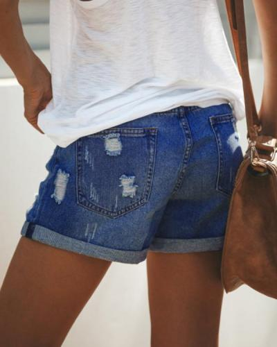 Women Casual Short Jeans