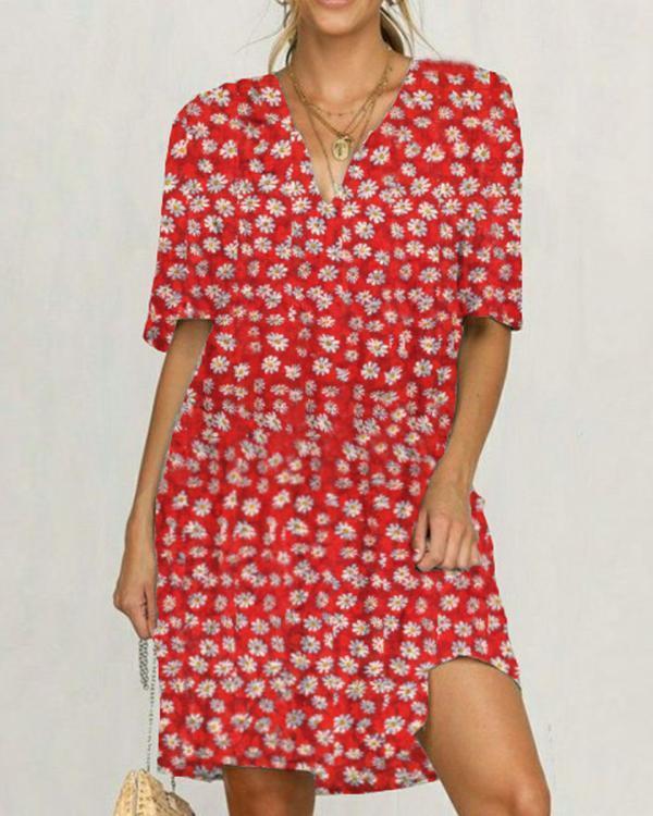 Daisy Short Sleeve Casual Dresses
