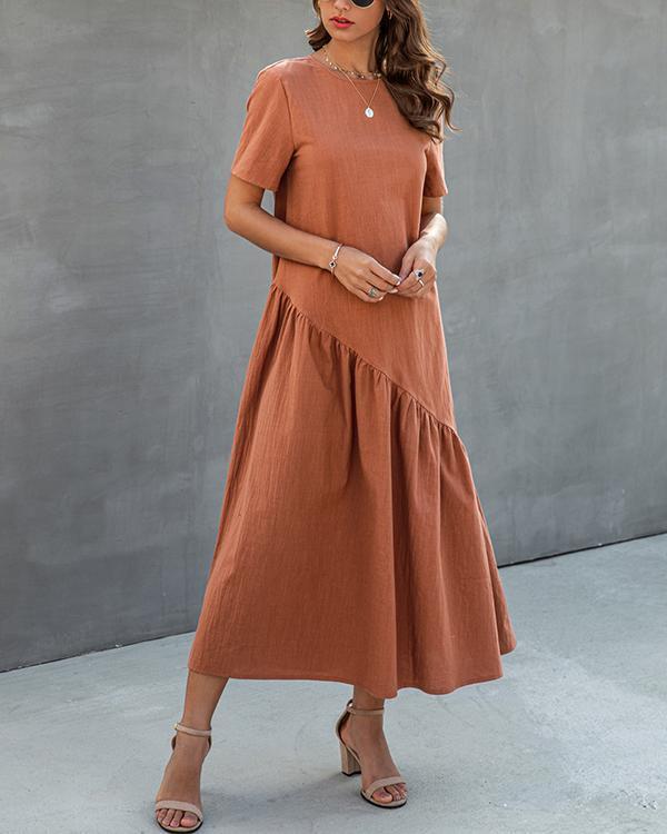 Fold Design Midi Dress