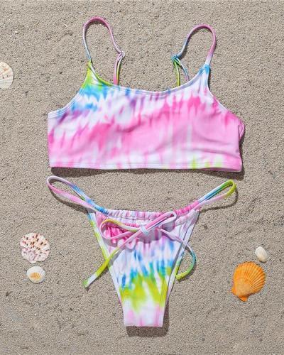 Tie-dye Printed Sexy Bikini Swimsuit