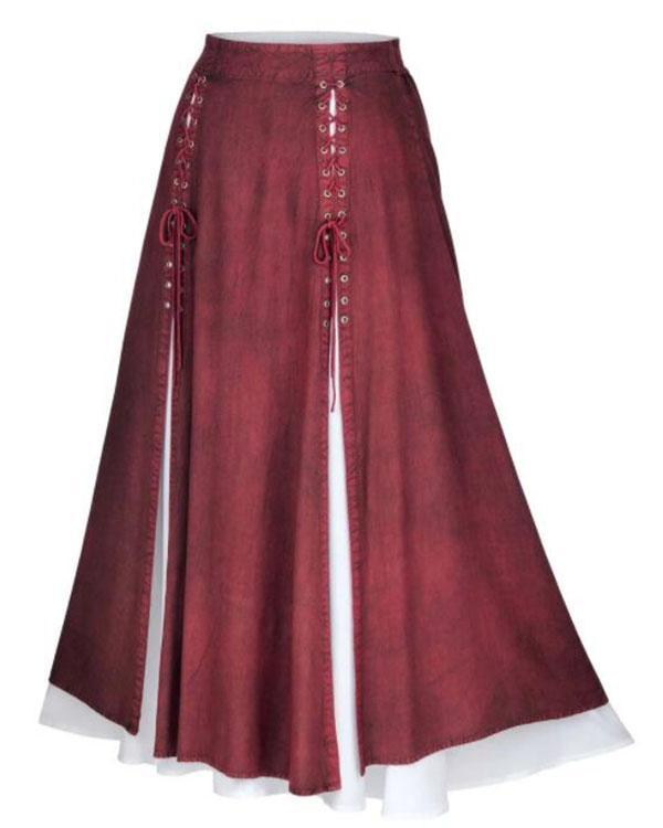 Women's Vintage Lace-Up Skirts