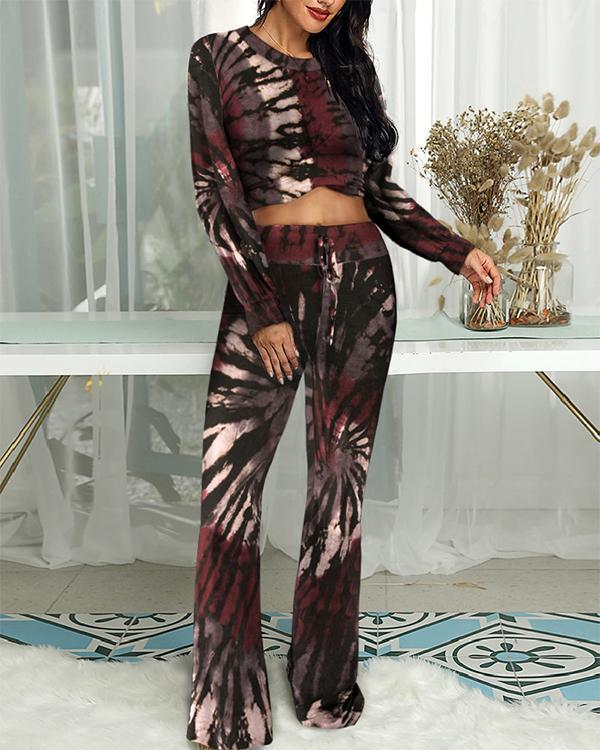 Tie Dye Two-Piece Lounge Set
