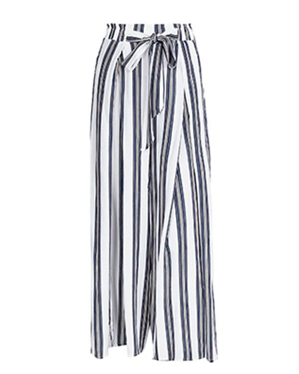 Loose Striped Fashion Casual Bottoms Beach Stylish Pants