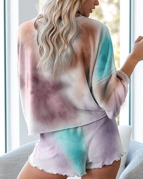 Long Sleeve Tie Dye Two Piece Set
