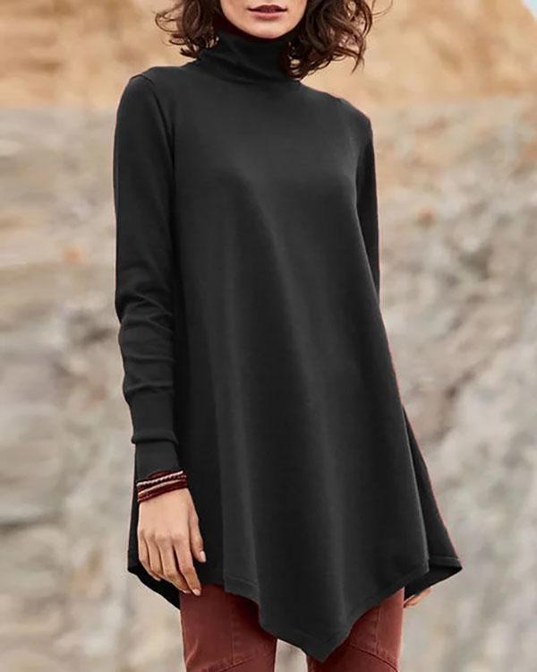 Long Sleeve Casual Turtleneck Plus Size Sweatshirts