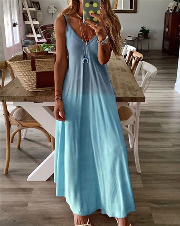 Bohemian Solid Fashion Sleeveless Maxi Dresses