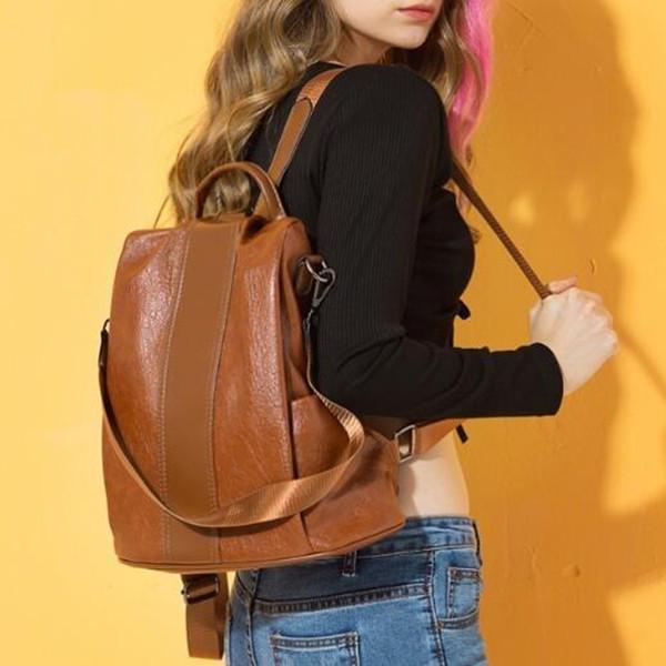 Anti-Thief Women Backpack Large Capacity Hair Ball Travel Bag
