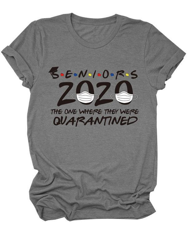 Seniors 2020 Women Casual Daily T shirt Tee