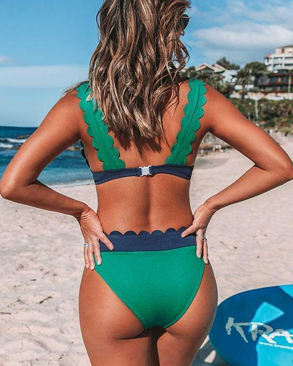 Sexy Bikini Backless Split Swimsuit