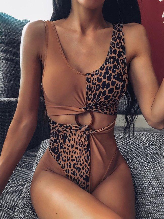 Sexy Leopard One Piece Swimsuit