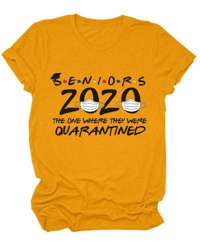 Seniors 2020 Women Casual Daily T shirt Tee