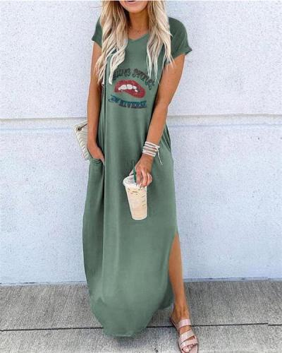 Short Sleeve Bohemian Fashion Summer Holiday Dresses
