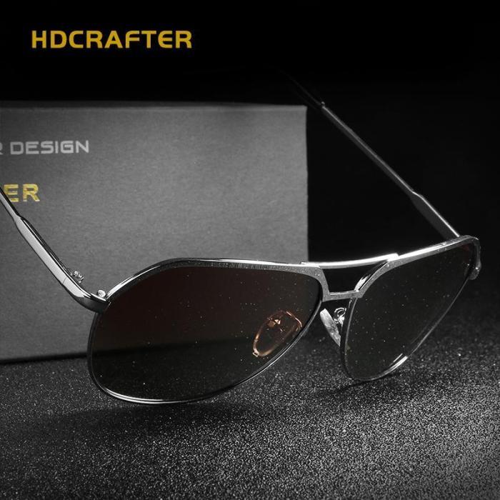 Star Polarized  Vintage Pilot Sun Glasses With Box