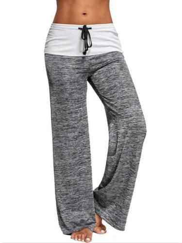 Sport Yoga Women Wide Drawstring Leg Pants